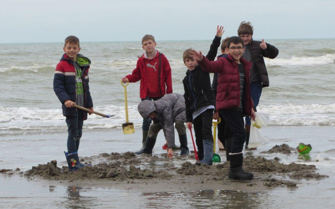 Ontspanning op het strand (zeeklassen)